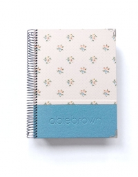 Agenda Personal Azul Purpurina Polipiel A5