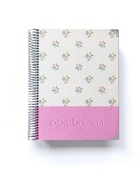 Agenda Personal Rosa Purpurina Polipiel A5
