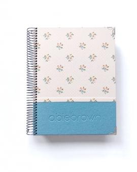 Agenda de Estudio Azul Purpurina Combinado A5