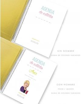 Agenda de Estudio Amarillo Combinado tamaño A5