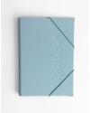 Carpeta Polipiel Azul Purpurina tamaño A4