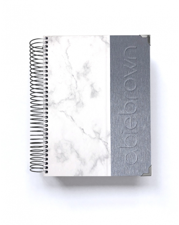 Agenda de Estudio Silver Mármol A5
