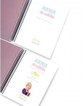Agenda de Estudio Rose Gold Mármol A5