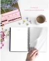 Planificador Saludable Rosa Purpurina Combinado