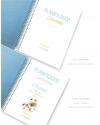 Planificador Saludable A5 Azul Purpurina Combinado