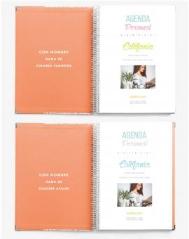 Agenda Personalizada Naranja Tamaño A4