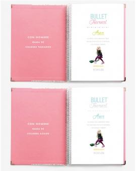 Agenda Personal Rosa Nude Tamaño A4
