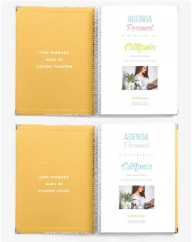 Agenda Personal Amarillo Tamaño A4