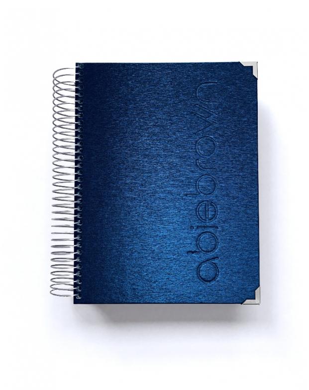 Organizador de oposiciones A5 Azul Metalizado