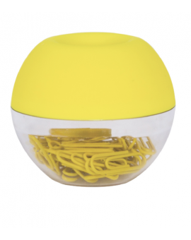 Dispensador de clips amarillo
