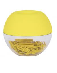 Dispensador de clips amarillo