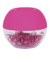 Dispensador de clips rosa