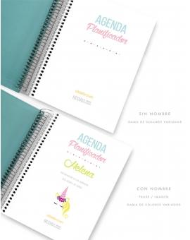 Agenda Personal Turquesa Tamaño A5