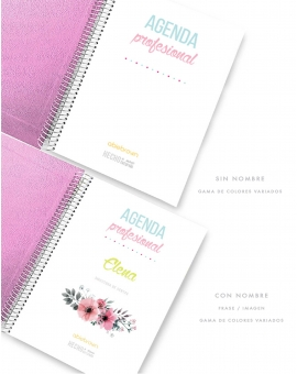 Agenda Rosa Purpurina Combinado