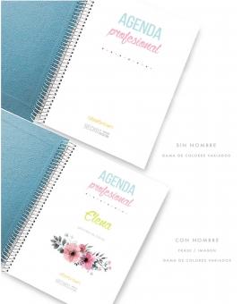 Agenda Azul Purpurina Combinado