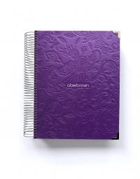 Agenda de trabajo A5 Violeta Tropical