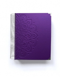 Agenda de trabajo A5 Violeta Mandala