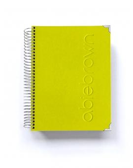 Agenda Verde Pistacho Personalizada