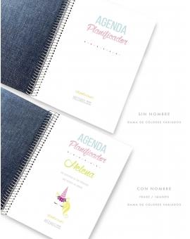 Agenda Personal Denim Combinado Tamaño A5