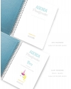 Agenda Personal Polipiel Azul Purpurina Tamaño A5