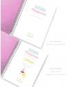 Agenda Personal A5 Rosa Purpurina Polipiel