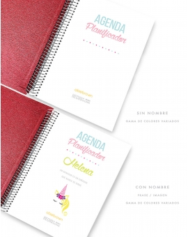 Agenda Personal A5 Granate Combinado