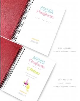 Agenda Personal Granate Tamaño A5