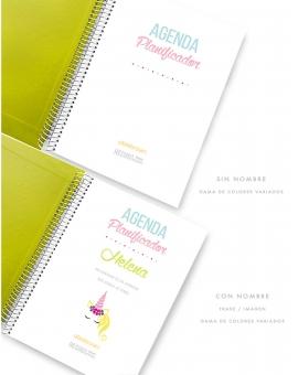 Agenda Personal Pistacho Tropical Tamaño A5