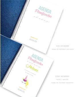 Agenda Personalizada A5 Azul Metalizado