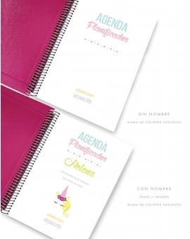 Agenda Personalizada en rosa Fucsia