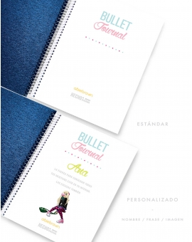 Bullet Journal Azul Metalizado tamaño A5