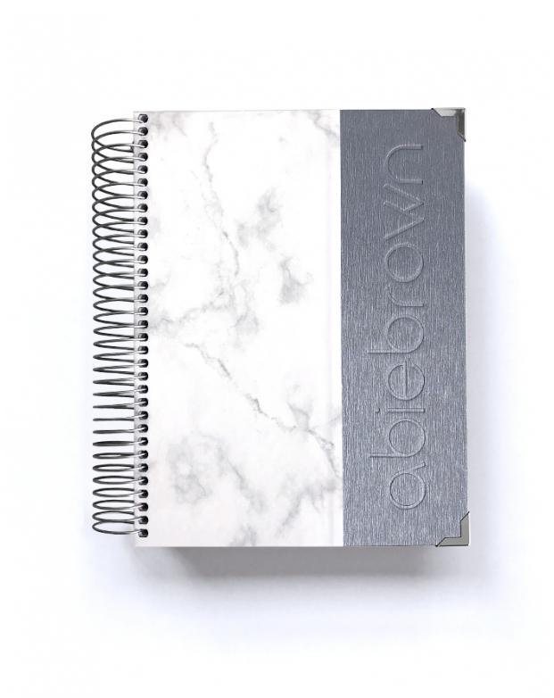 Diario Silver Mármol