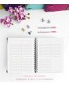 Agenda Personal Luxury Negro Tamaño A5