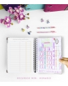 Agenda de Estudio Rosa Nude Combinado tamaño A5