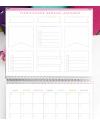 Agenda de Estudio A4 Amarillo Combinado