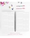 Agenda de Estudio A4 Granate