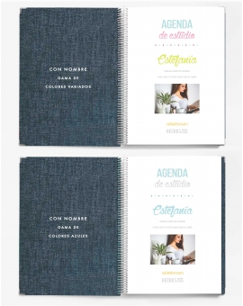 Agenda de Estudio A4 Denim