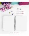 Agenda de Estudio Luxury Blanco tamaño A5