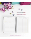 Agenda de trabajo Rosa Tamaño A5