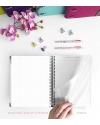 Diario de vida A5 Rosa Purpurina Combinado