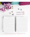 Diario de vida A5 Azul Purpurina Combinado