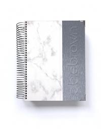 Diario de vida A5 Silver Mármol