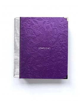 Diario de vida A5 Violeta Tropical