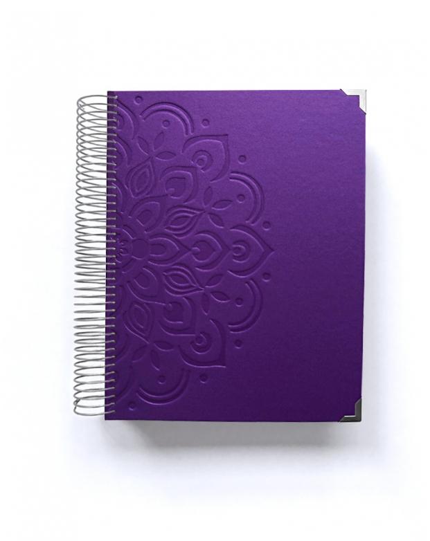 Diario de vida A5 Violeta Mandala