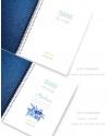 Diario de vida A5 Azul Metalizado