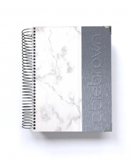 Diario emprendedor A5 Silver Mármol