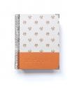 Agenda de Estudio Naranja Combinado tamaño A5