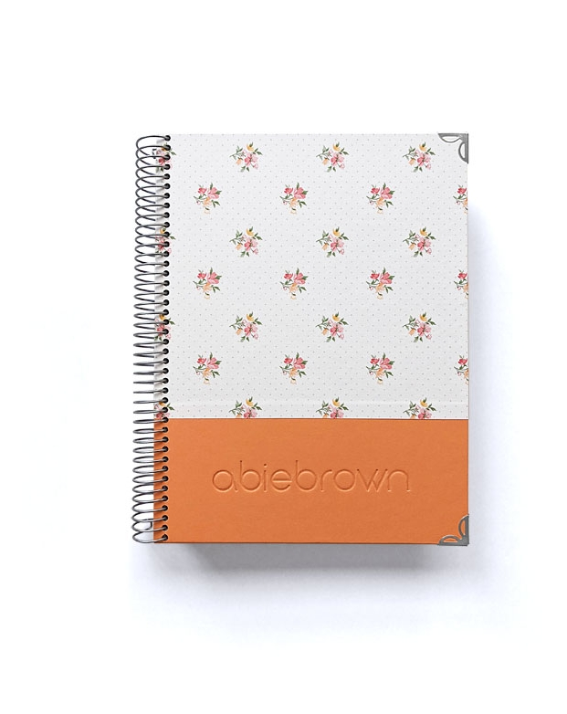 Diario de vida A5 Naranja Combinado