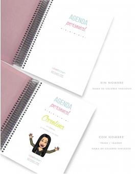 Agenda Personal Rosa Quartz Tamaño A5