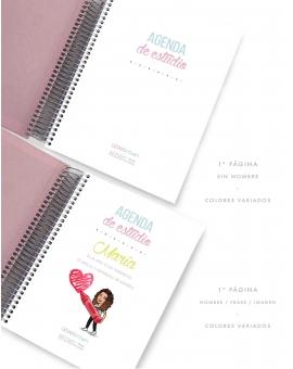 Agenda de estudio Tricolor Rosa Tamaño A5